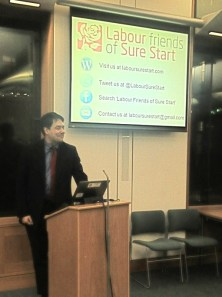Shadow Education Secretary Stephen Twigg MP launches Labour Friends of Sure Start